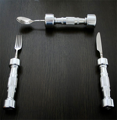 Dumbbell Utensils
