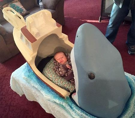 Shark Baby Crib