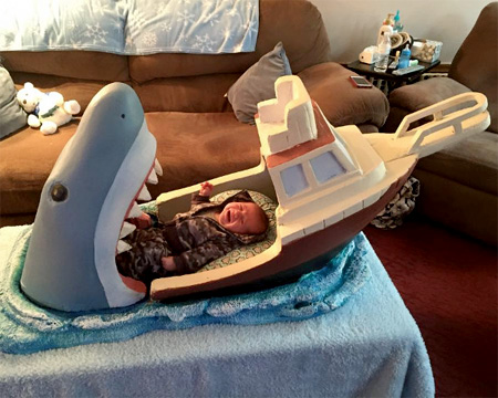 Shark Baby Bed