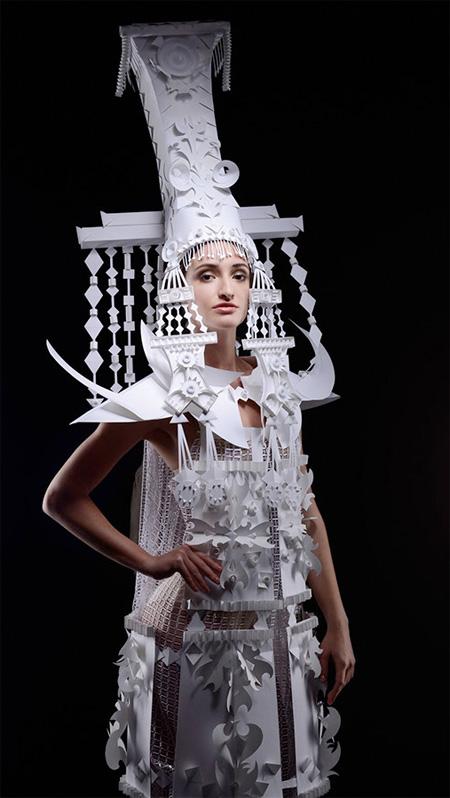 Asya Kozina Paper Outfit