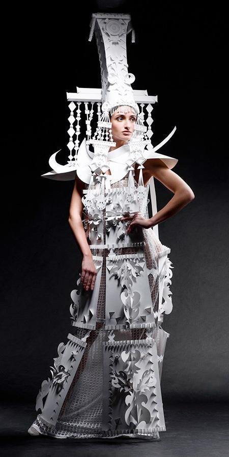 Asya Kozina Paper Dresses