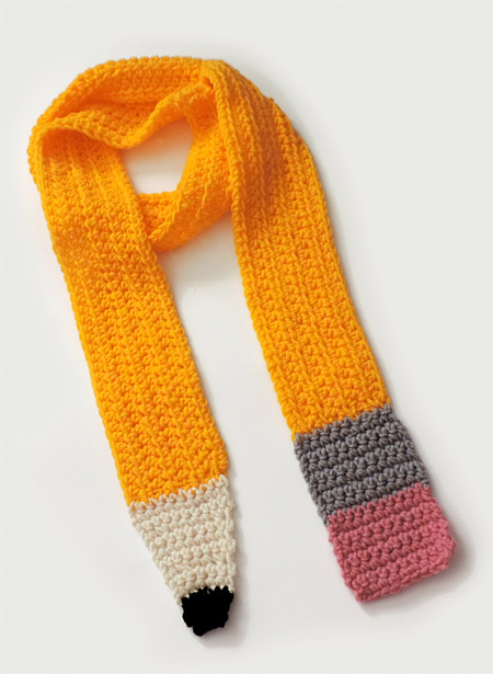 Bright Yellow Pencil Scarf