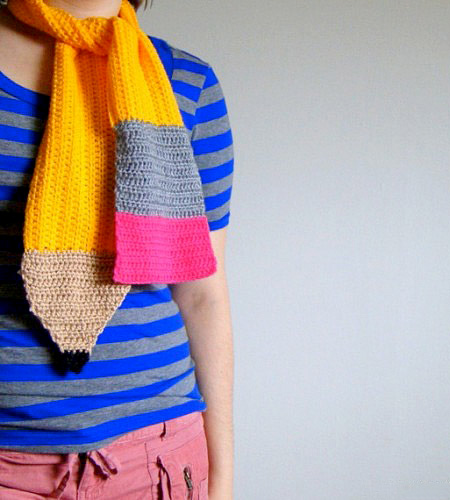 Yellow Pencil Scarf