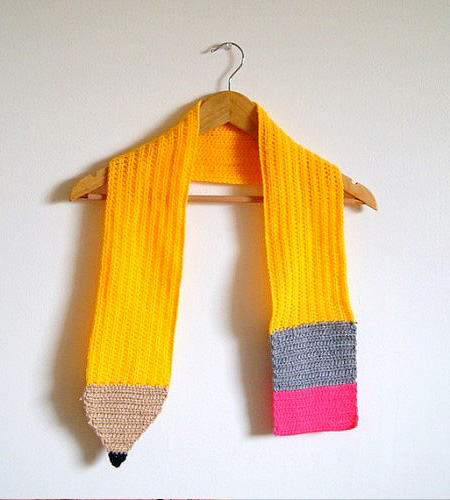 Knitted Pencil Scarf