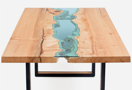 Wooden River Table