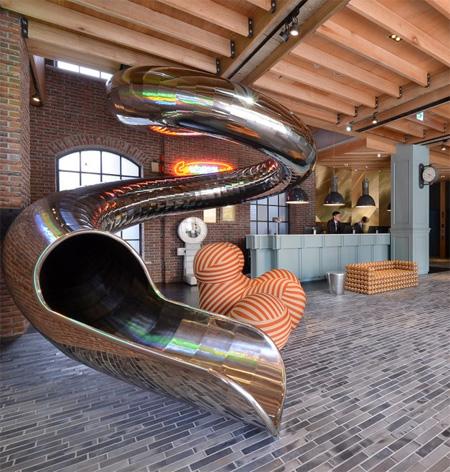 Hotel with Indoor Slide
