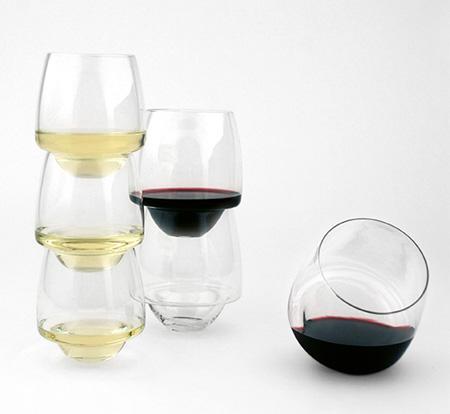 Spill-proof Wine Glasses