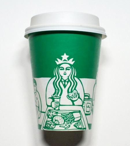 Soo Min Kim Starbucks Art