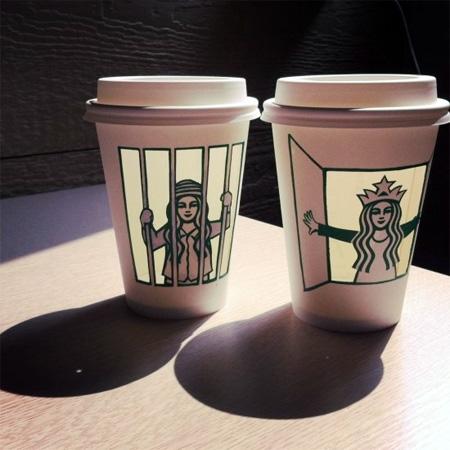 Soo Min Kim Starbucks Coffee Cup