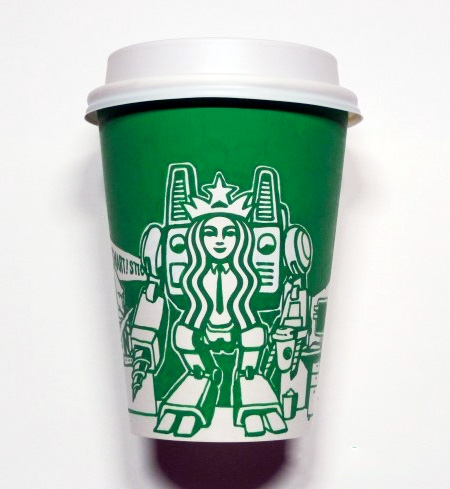 Starbucks Cup Art by Soo Min Kim