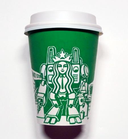 Starbucks Cup Art by Soo Min Kim