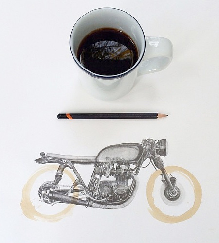 Coffee Stain Drawing
