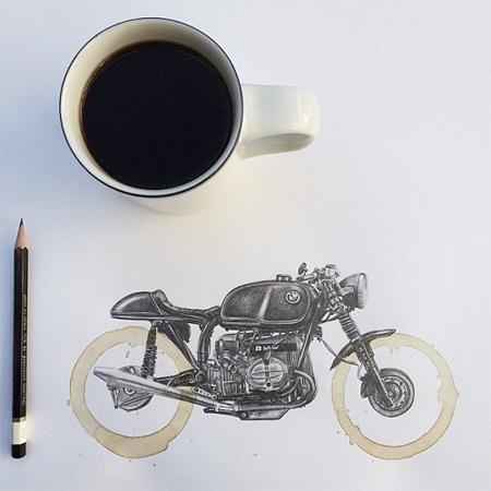 Carter Asmann Coffee Ring Drawings
