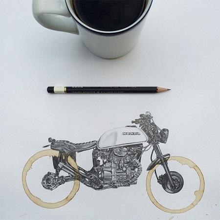 Carter Asmann Coffee Ring Drawing