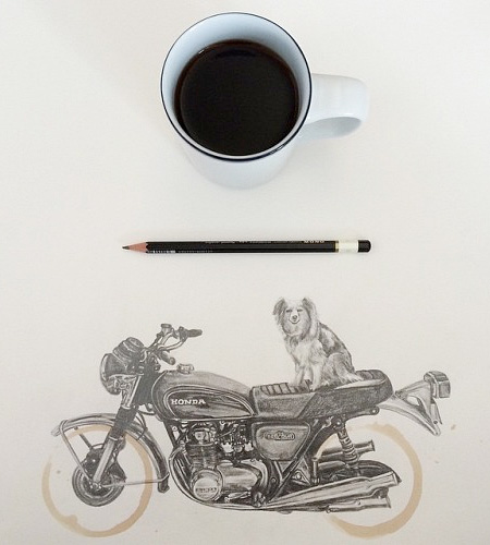 Carter Asmann Coffee Stain Drawing