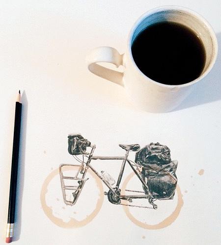 Carter Asmann Coffee Ring Art