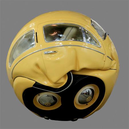 Volkswagen Beetle Sculpture
