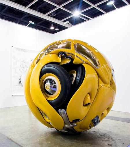 VW Beetle Sculpture
