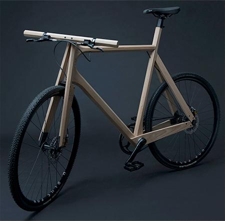 Marco de la bici de madera