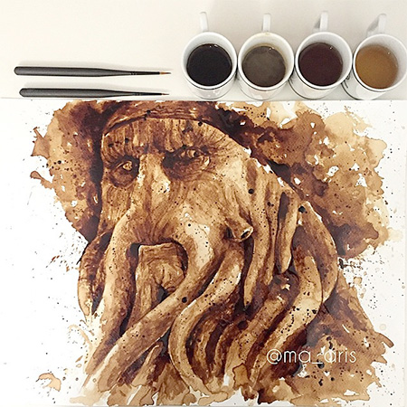 Painting with Coffee