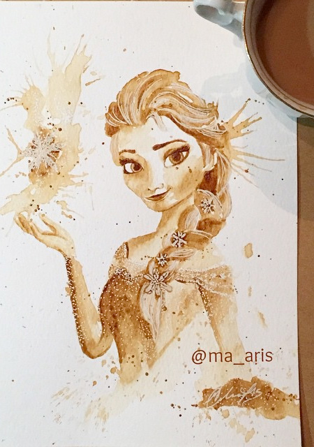 Coffee Paintings by Maria Aristidou