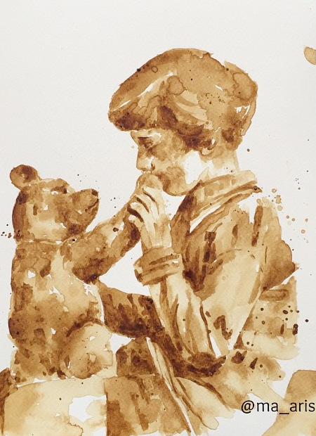 Coffee Painting by Maria Aristidou