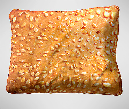 Hamburger Pillow