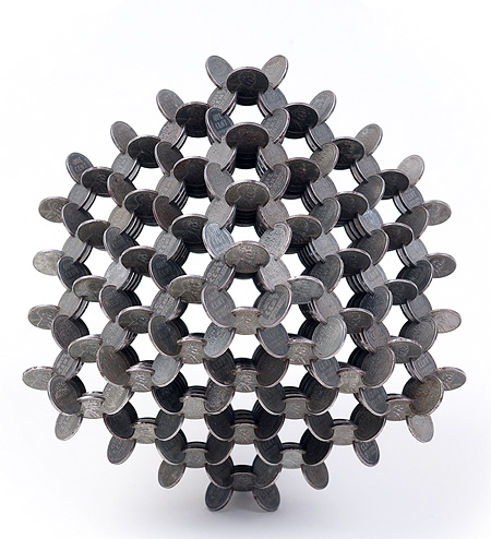 Interlocked Coins Sculpture