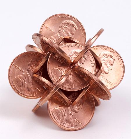 Interlocked Coins Art