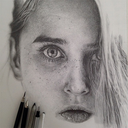 Monica Lee Realistic Pencil Drawings