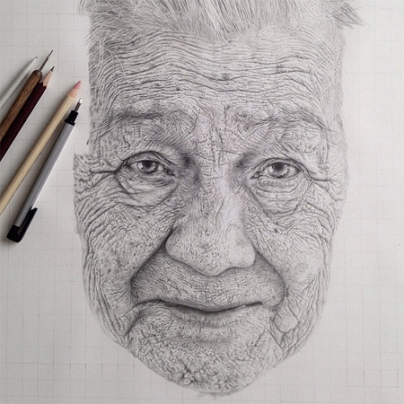 Monica Lee Pencil Drawings