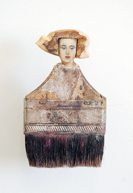 Art Carved into Paintbrushes