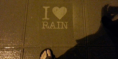 Rain Activated Street Art