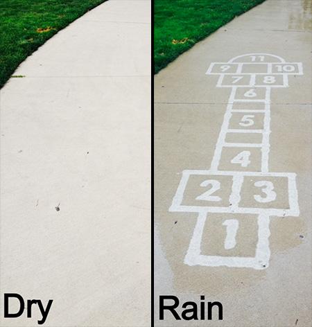 Rain Activated Art