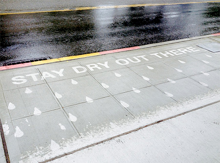 Seattle Rain Activated Street Art