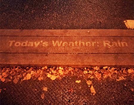 Seattle Rain Activated Art