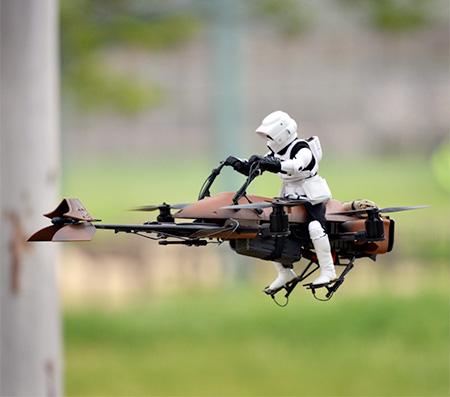 Star Wars Speeder Bike Drone