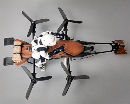 Imperial Speeder Bike Quadcopter