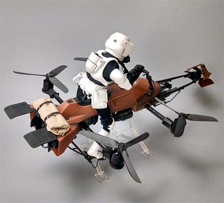 Imperial Speeder Bike Drone