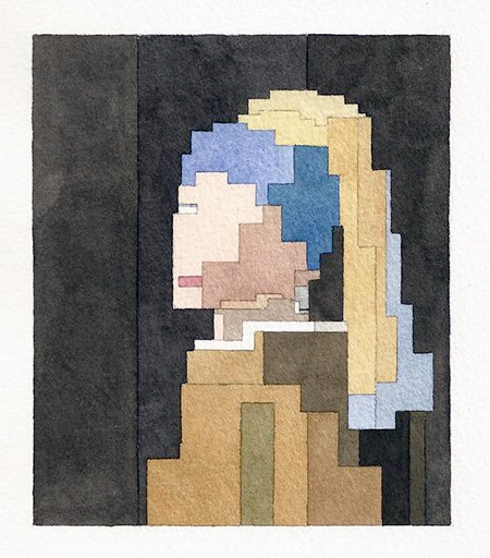 8-Bit Girl with a Pearl Earring