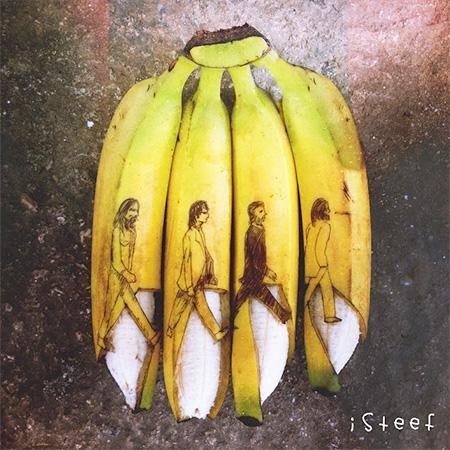 Banana Sculptures by Stephan Brusche