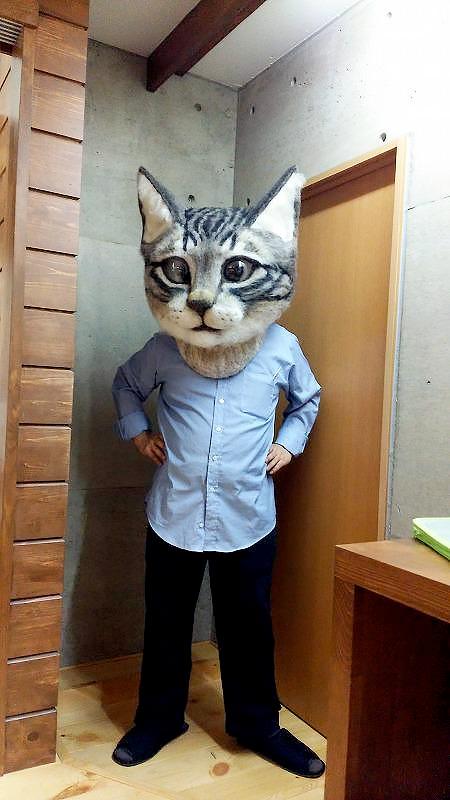 Realistic Cat Head Mask