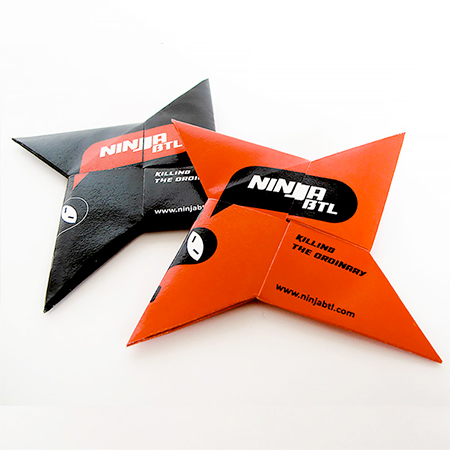 Ninja Star Business Card
