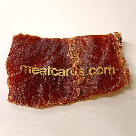 Clever business cards meat business card colourmoves