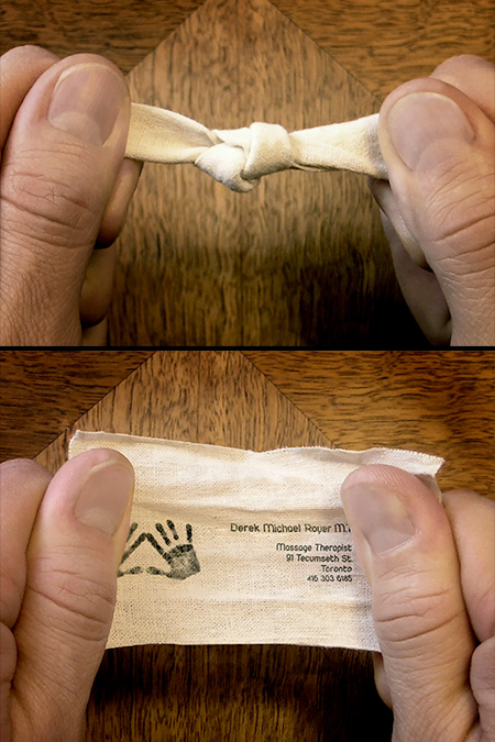 Tied Knot Business Card