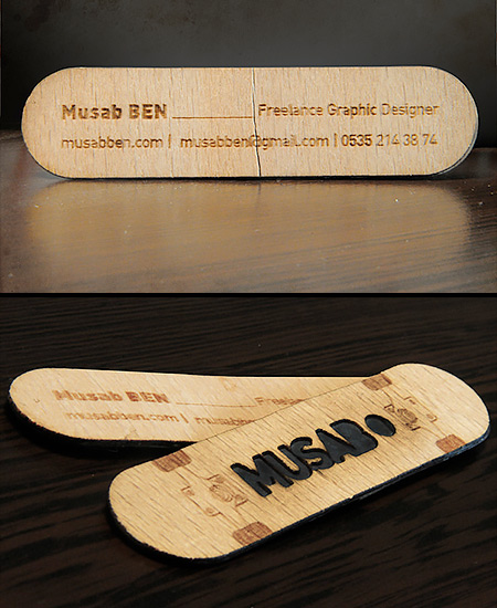 Clever business cards skateboard business card colourmoves