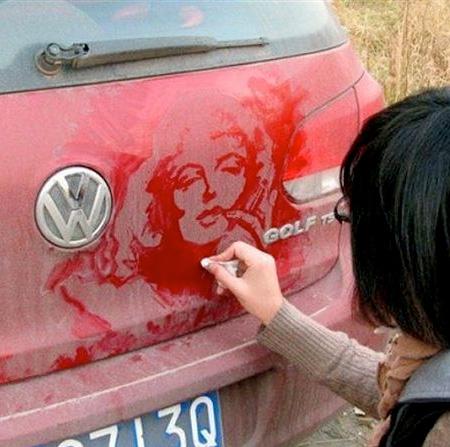Tamara Navarro Dirty Car Art
