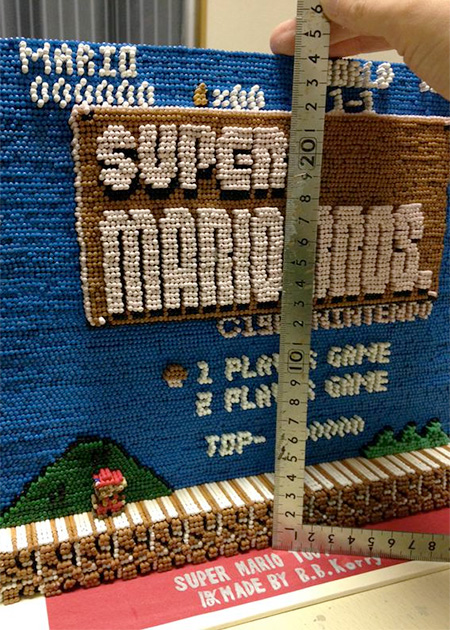 Toothpick Super Mario Bros
