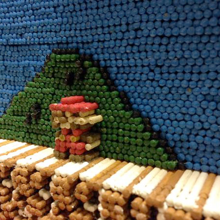 Mario Made of Toothpicks