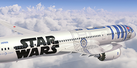 Star Wars R2-D2 Airplane